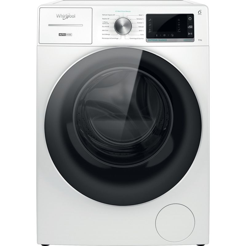 Whirlpool-Lavabiancheria-A-libera-installazione-W8-W946WR-IT-Bianco-Carica-frontale-A-Frontal