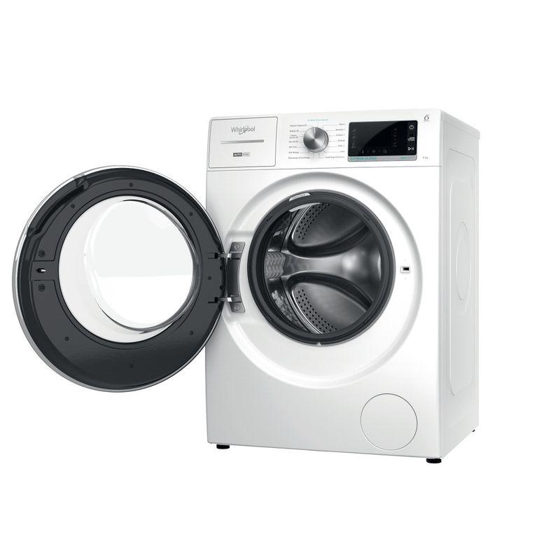 Whirlpool-Lavabiancheria-A-libera-installazione-W8-W946WR-IT-Bianco-Carica-frontale-A-Perspective-open