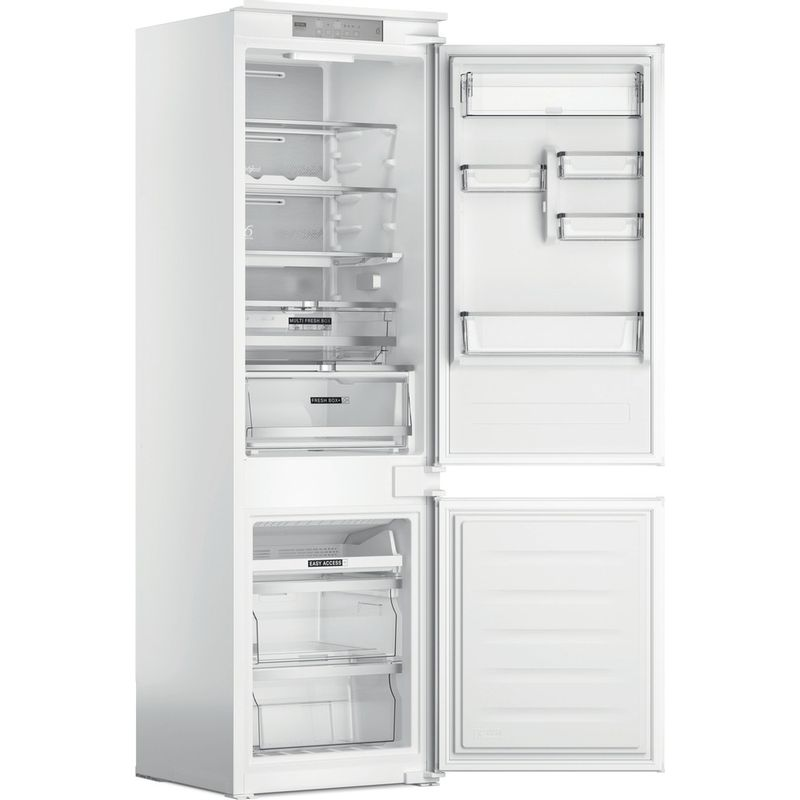 Whirlpool-Combinazione-Frigorifero-Congelatore-Da-incasso-WHC18-T573-Bianco-2-porte-Perspective-open