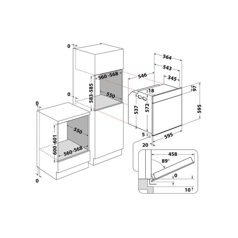 Whirlpool-Forno-Da-incasso-OAKZ9-142-P-IX-Elettrico-A--Technical-drawing