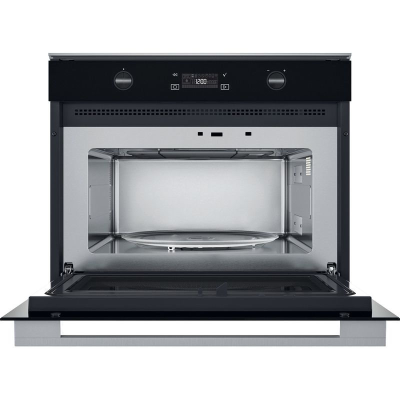 Whirlpool-Microonde-Da-incasso-W7-MW541-Stainless-Steel-Elettronico-40-Microonde---grill-900-Frontal-open