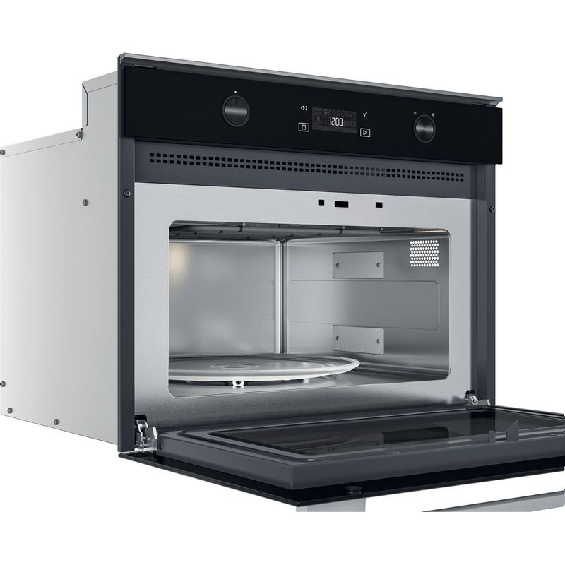 Whirlpool-Microonde-Da-incasso-W7-MW541-Stainless-Steel-Elettronico-40-Microonde---grill-900-Perspective-open