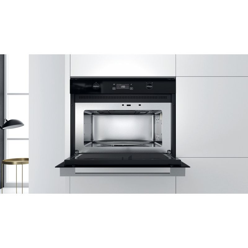 Whirlpool-Microonde-Da-incasso-W7-MW541-Stainless-Steel-Elettronico-40-Microonde---grill-900-Lifestyle-frontal-open