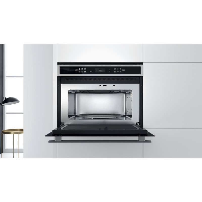 Whirlpool-Microonde-Da-incasso-W6-MW441-Stainless-Steel-Elettronico-40-Microonde---grill-900-Lifestyle-frontal-open