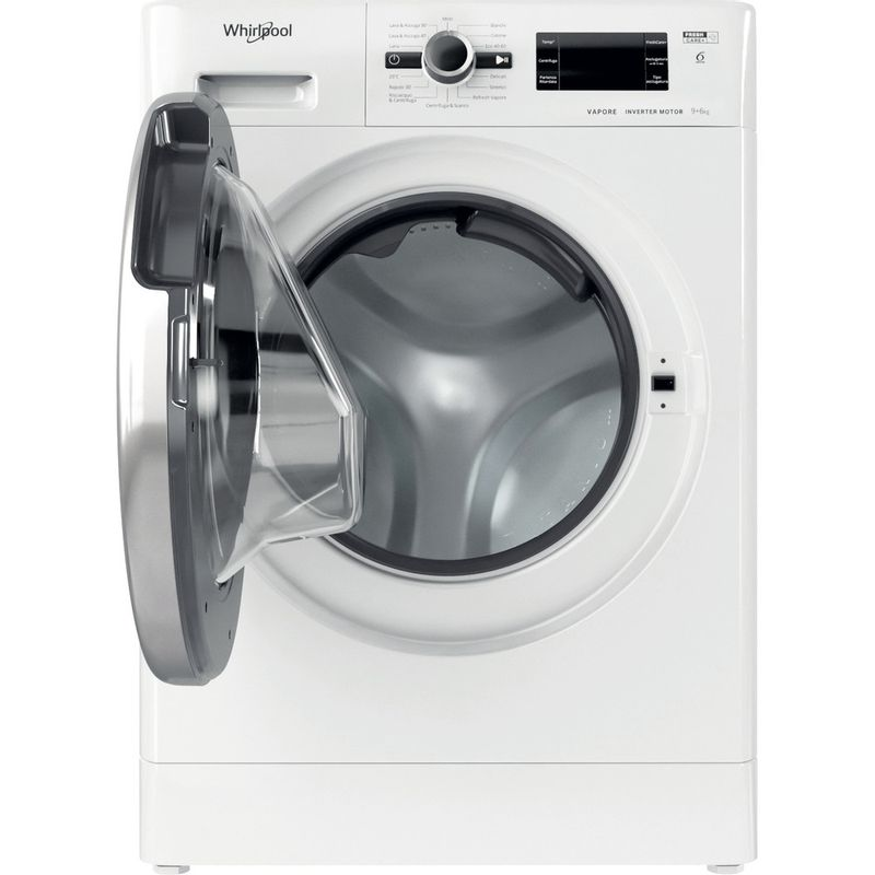 Whirlpool-Lavasciugabiancheria-A-libera-installazione-FWDG-961483-WBSV-IT-N-Bianco-Carica-frontale-Frontal-open