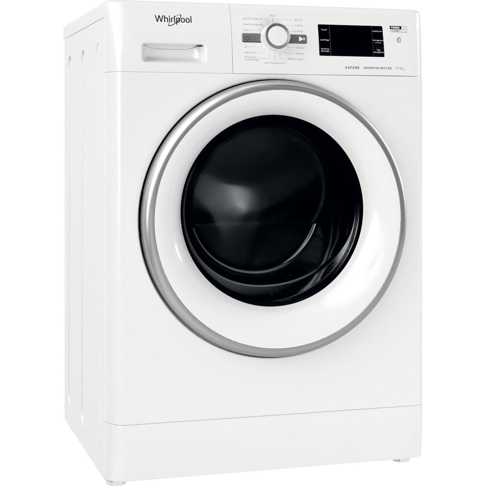 Whirlpool Lavasciuga a libera installazione FWDG 961483 WSV IT N : guarda le specifiche e scopri le funzioni innovative degli elettrodomestici per casa e famiglia.