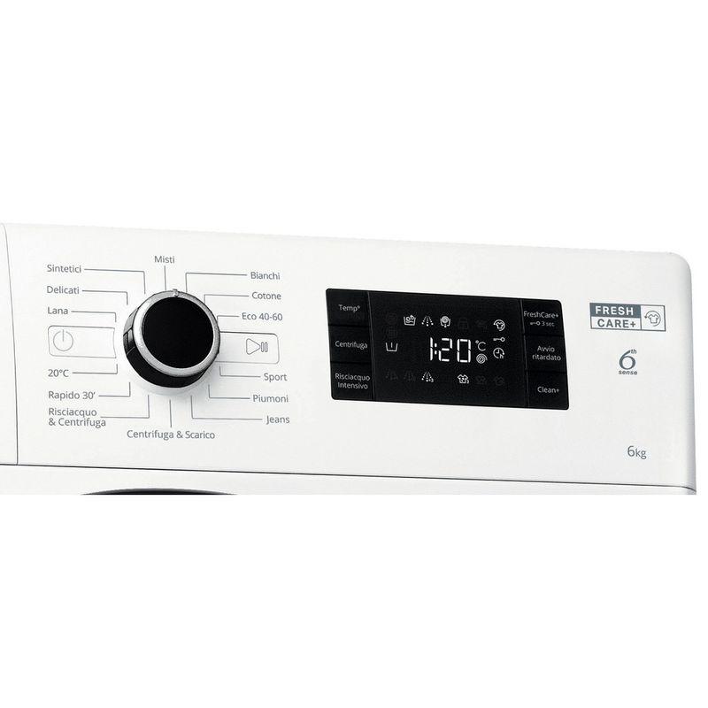 Whirlpool-Lavabiancheria-A-libera-installazione-FWSG-61251-B-IT-N-Bianco-Carica-frontale-F-Control-panel