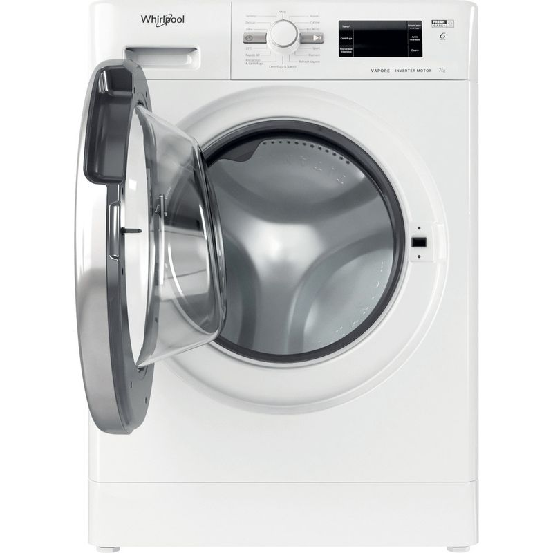 Whirlpool-Lavabiancheria-A-libera-installazione-FSB-723V-S-IT-N-Bianco-Carica-frontale-D-Frontal-open