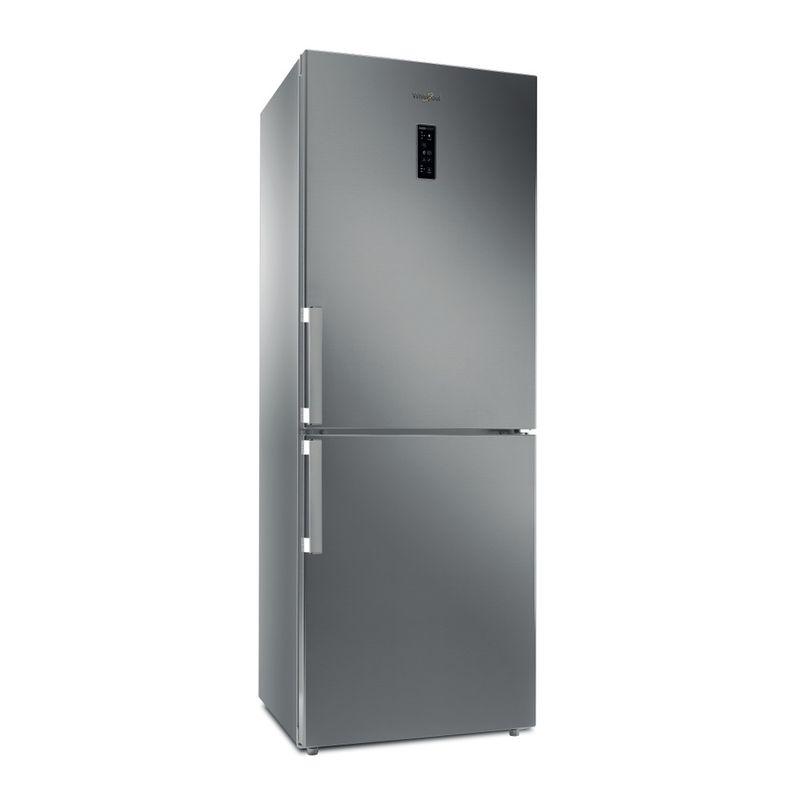 Whirlpool-Combinazione-Frigorifero-Congelatore-A-libera-installazione-WB70E-972-X-Optic-Inox-2-porte-Perspective