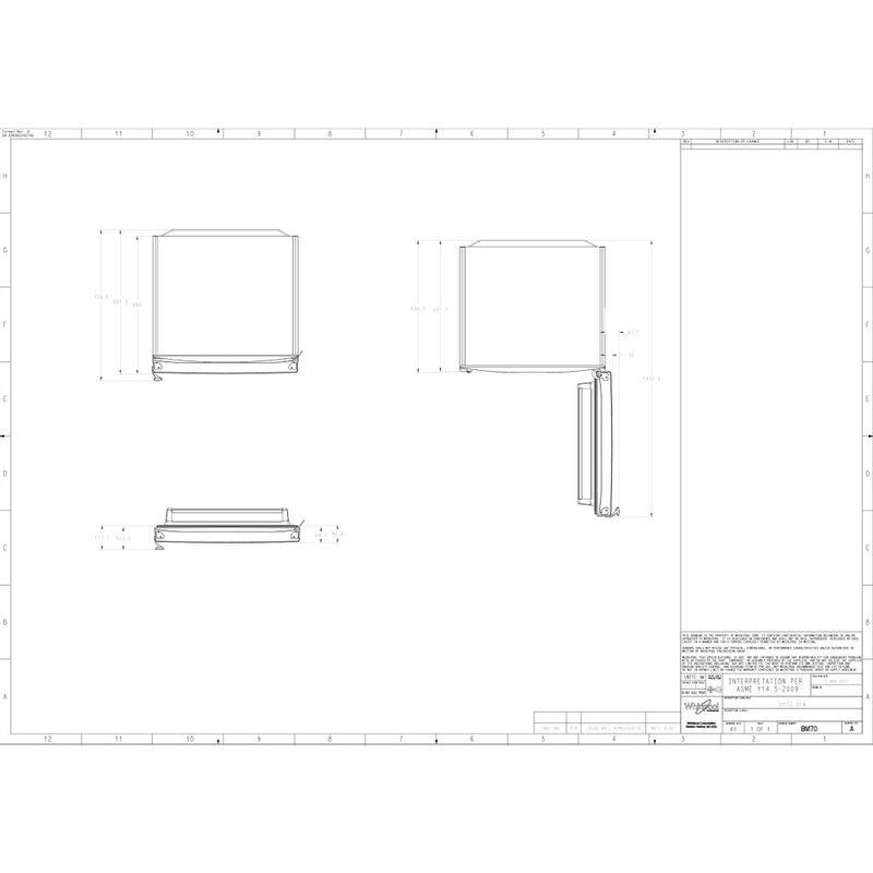 Whirlpool-Combinazione-Frigorifero-Congelatore-A-libera-installazione-WB70E-972-X-Optic-Inox-2-porte-Technical-drawing