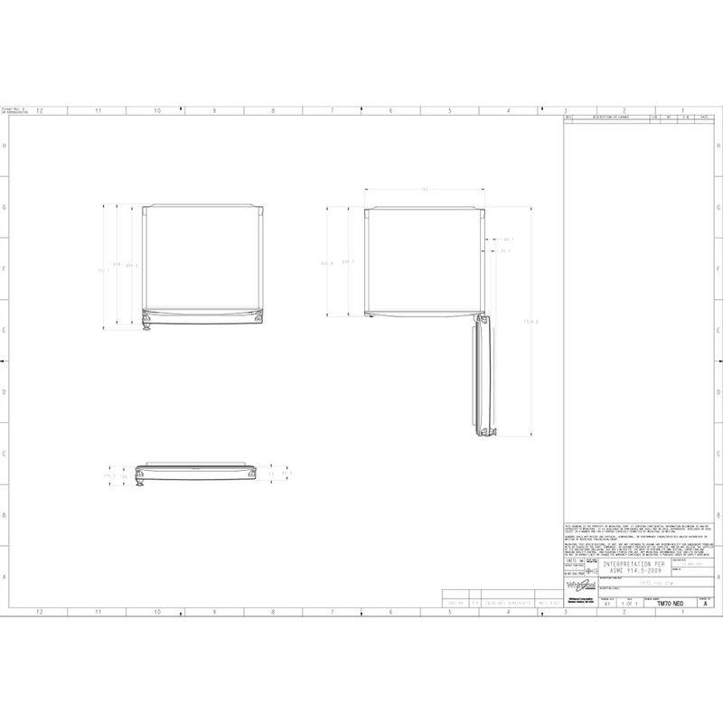 Whirlpool-Combinazione-Frigorifero-Congelatore-A-libera-installazione-WT70E-952-X-Optic-Inox-2-porte-Technical-drawing