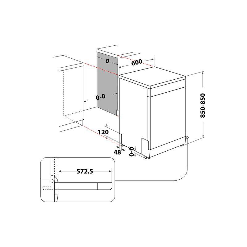 Whirlpool-Lavastoviglie-A-libera-installazione-WFC-3C26-P-X-A-libera-installazione-E-Technical-drawing